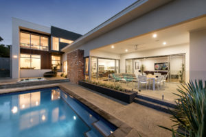 Residential Attitudes - contemporary family home with swimming pool