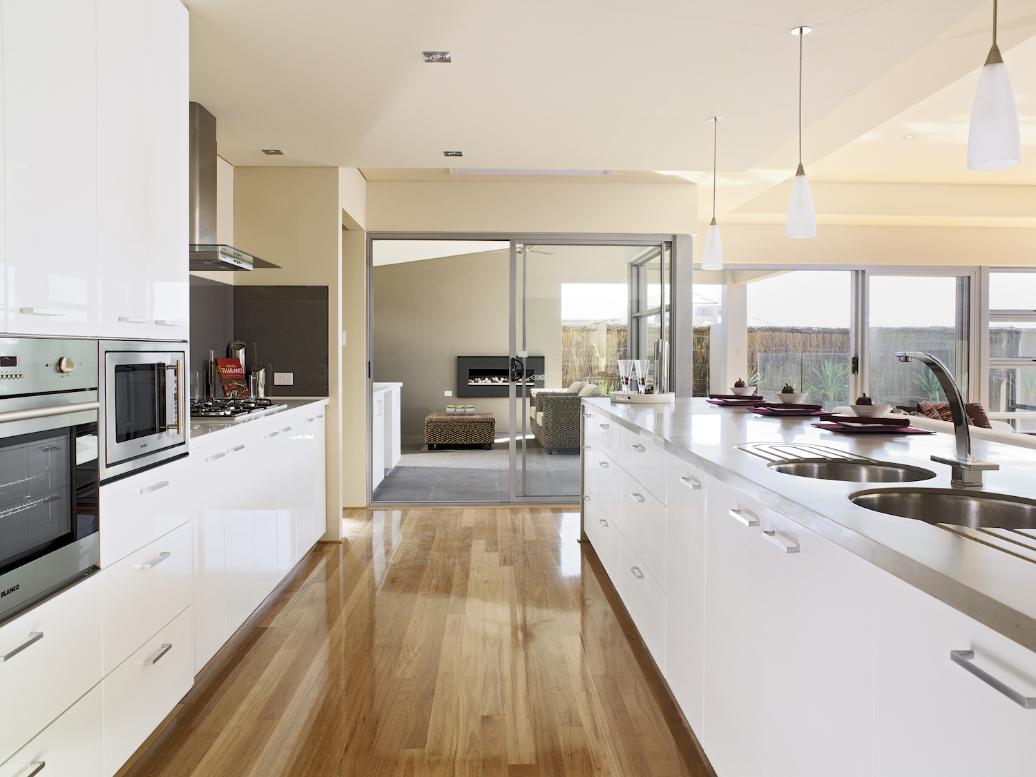 Residential Attitudes - Open-plan kitchen with access to patio