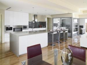 Residential Attitudes - Open-plan kitchen with alfresco access