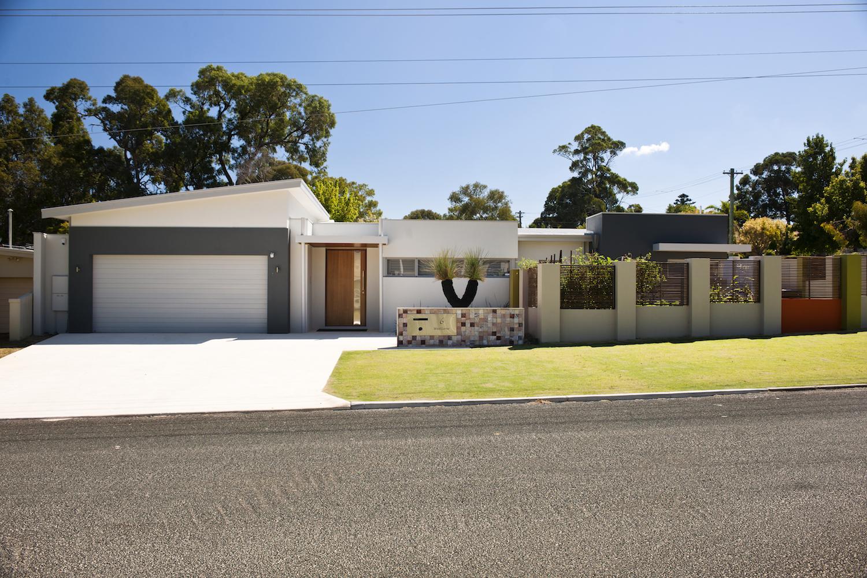 Residential Attitudes - Street view of suburban house