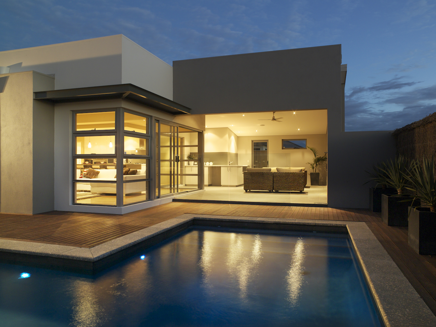 Residential Attitudes - Elements home with swimming pool