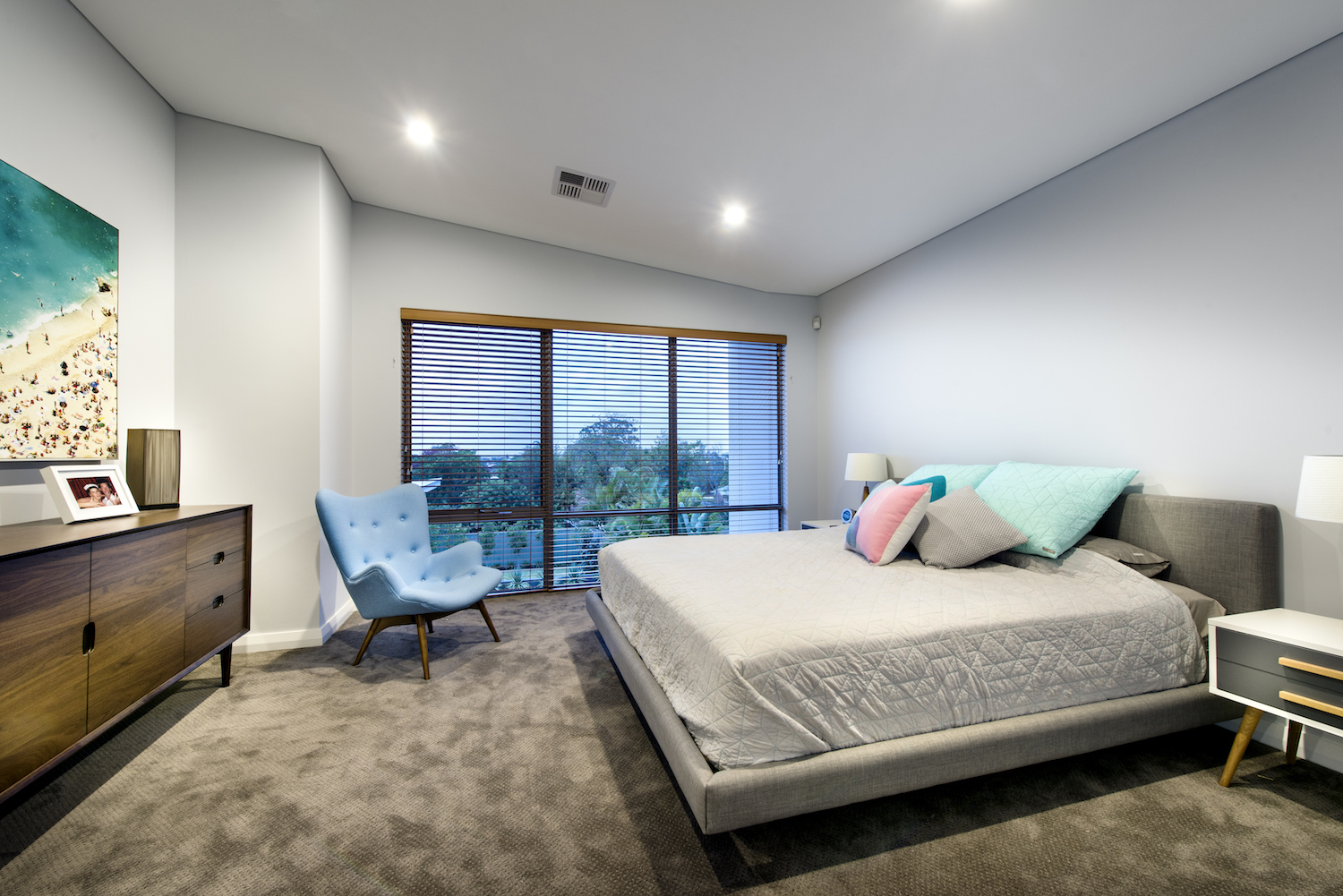 Residential Attitudes - carpeted bedroom