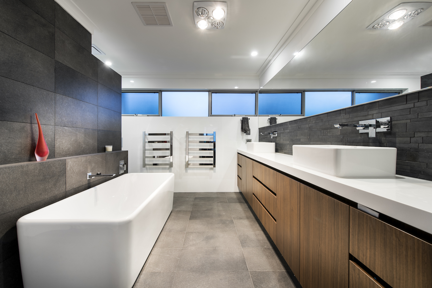 Residential Attitudes - Oswald Homes designed house - spacious ensuite