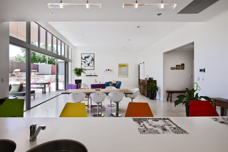 Residential Attitudes - colourful expansive living area