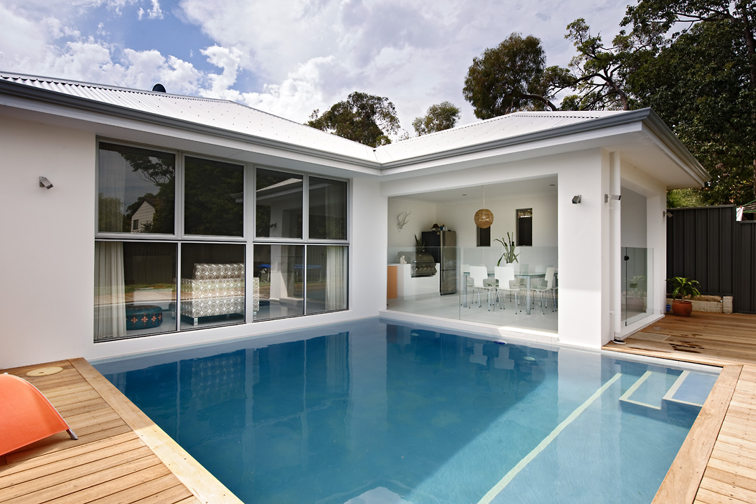 Residential Attitudes - house with swimming pool and patio