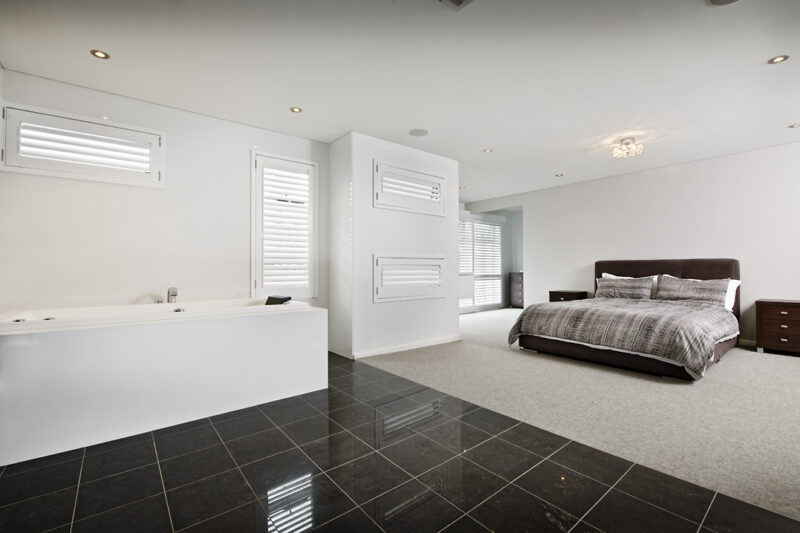 Residential Attitudes - Room with bed and bath