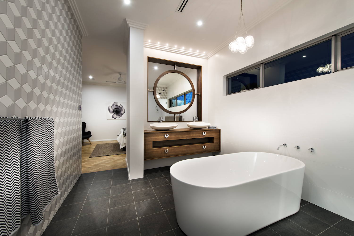 Residential Attitudes - Bathroom with tiled floor