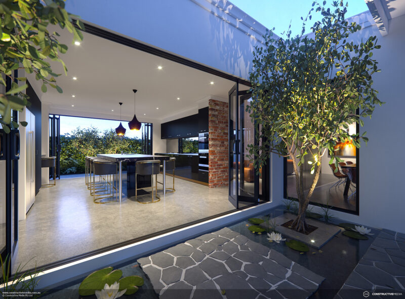 Residential Attitudes - Moderno home design from outside