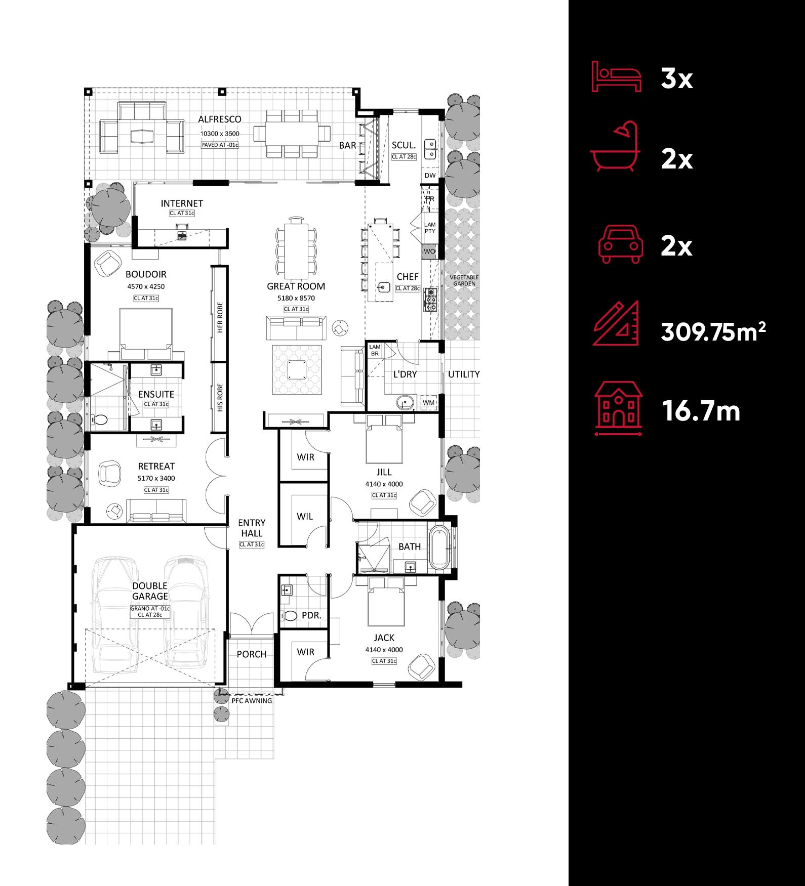 Cubo floor plan