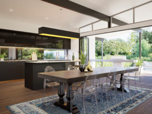 Residential Attitudes - Fresno with view of dining room, kitchen and garden