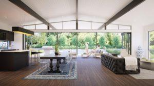Residential Attitudes - Fresno with view of garden