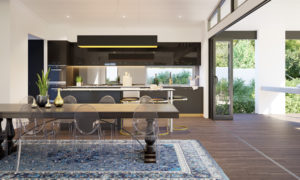 Residential Attitudes - Fresno dining room and kitchen