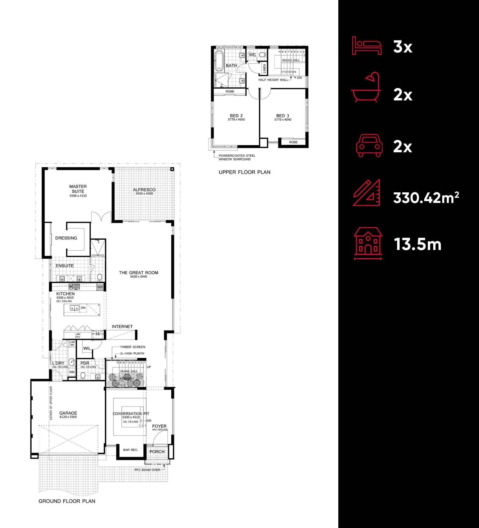 Luxe floor plan