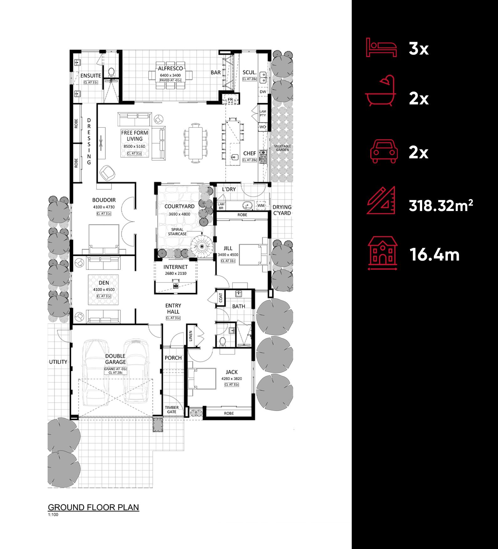 Villa Terrazza floor plan