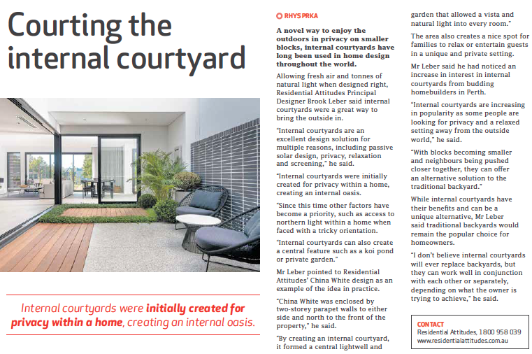 Courting The Internal Courtyard Residential Attitudes