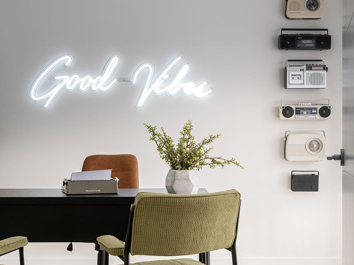good vibes wall